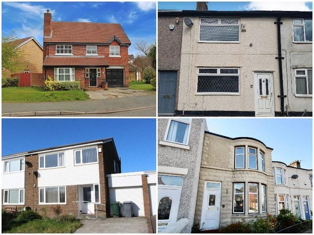 The 10 houses in Preston, Burnley, Lancaster, Wigan and Merseyside set to go to auction next week - with guide prices starting at 10,000
