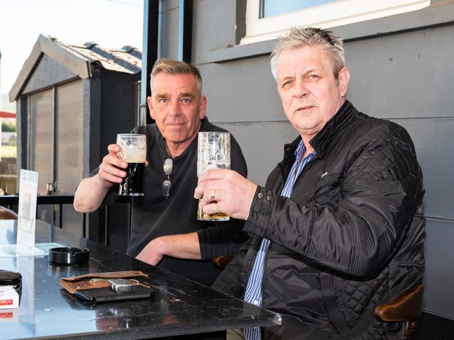 Burnley's beer gardens were packed this week as people enjoyed a pint in the sun