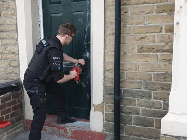Police found a large quantity of drugs at an address in Burnley last night, leading to the arrest of one man