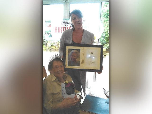 Burnley's Joan Milner has celebrated her 100th birthday in style