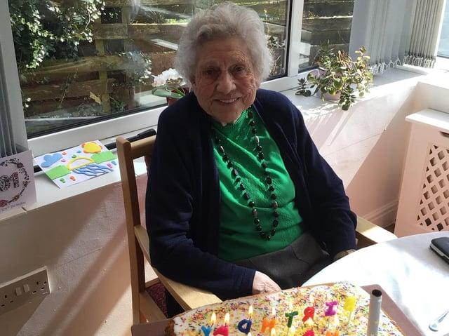 Birthday girl Eileen Wood