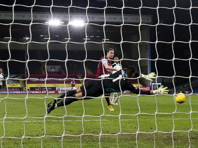 Ashley Barnes equalises against Fulham