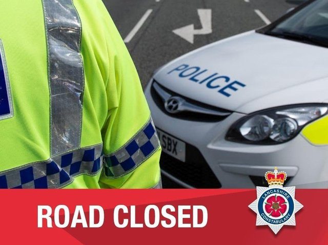 A section of Colne Road in Burnley has been closed this evening after a road accident