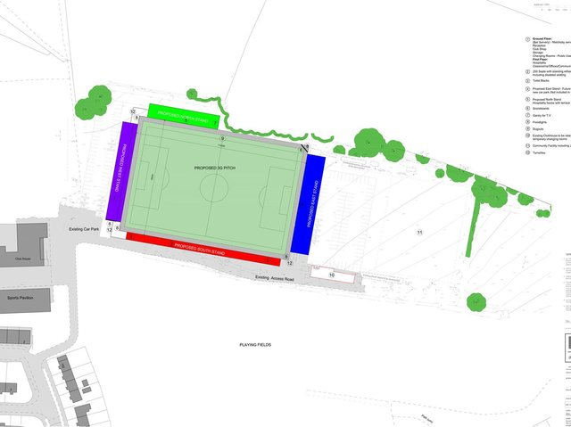 Plans drawn up by Lark architects