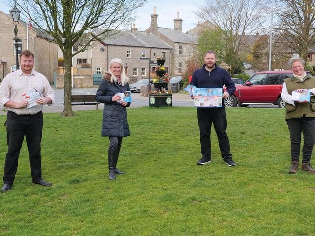 Richard Sagar with Amanda Milling MP, Antony Higginbotham MP and County Coun. Cosima Towneley