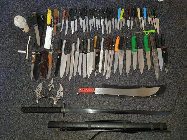 These are the knives that have been deposited