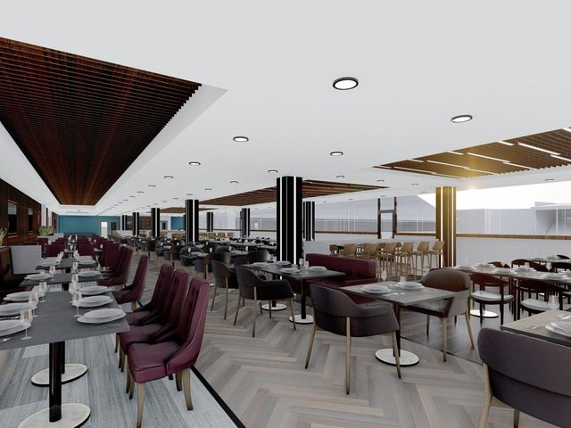 The new Longside Lounge at Turf Moor