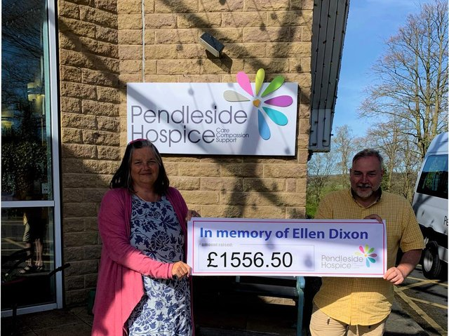 The family of Ellen Dixon presented a cheque to the hospice
