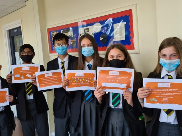 Some of the Primet pupils who took part in the challenge
