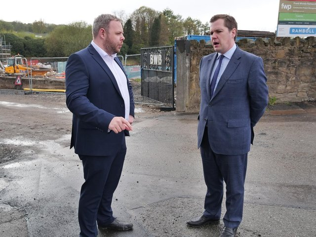 Burnley MP Antony Higginbotham with Robert Jenrick, Secretary of State for Housing, Communities and Local Government