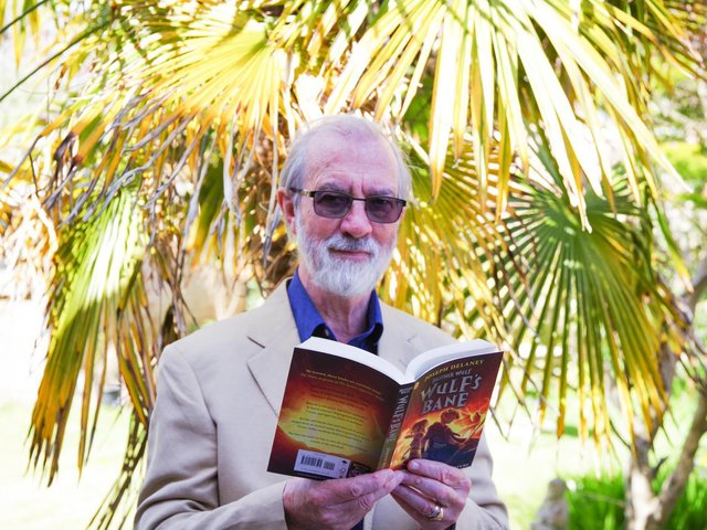Joe Delaney with his new book Wulf's Bane which is published on May 6
