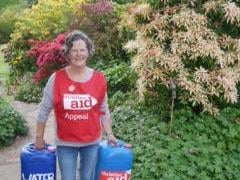 Clare Hyde, pictured on a previous fundraising walk