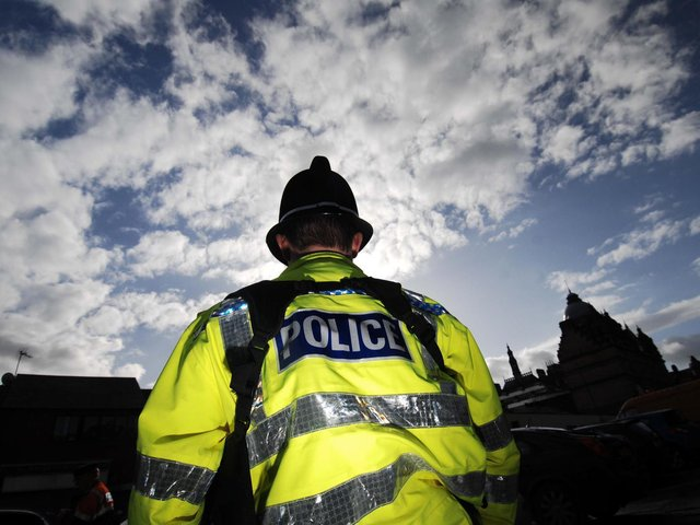 The drugs raid took place yesterday