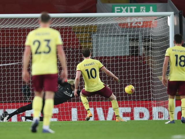Ashley Barnes scores the winner at Liverpool
