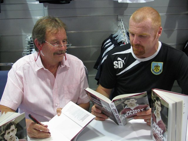 Dave Thomas with Burnley manager Sean Dyche who is widely acknowledged as one of the finest leaders the club has ever seen.