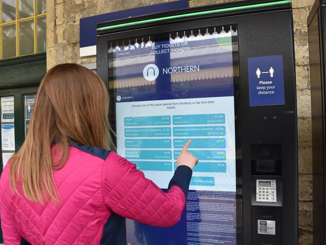 Touchscreen ticket machines are commonplace now