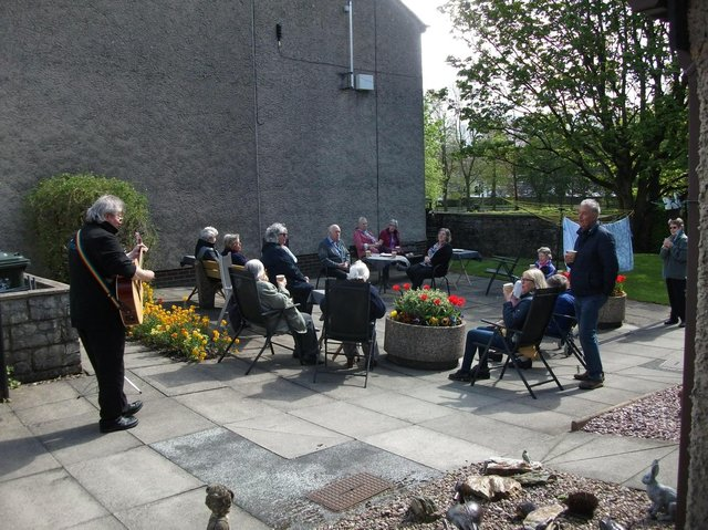 Music is enjoyed by residents as they prepare for more easing of restrictions