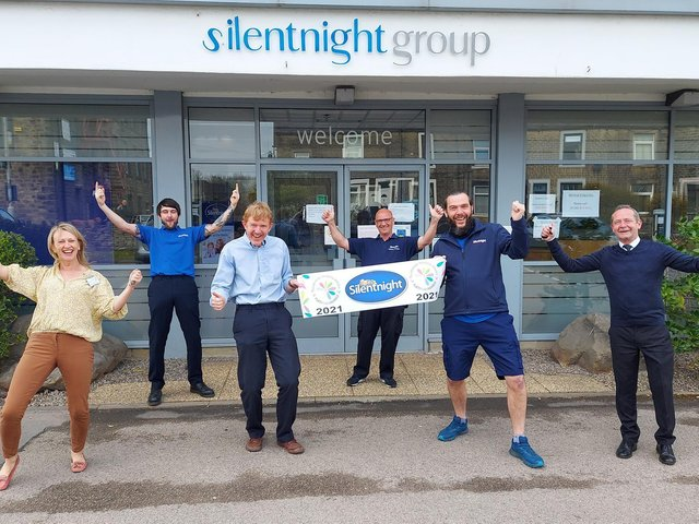 Some of the Silentnight team