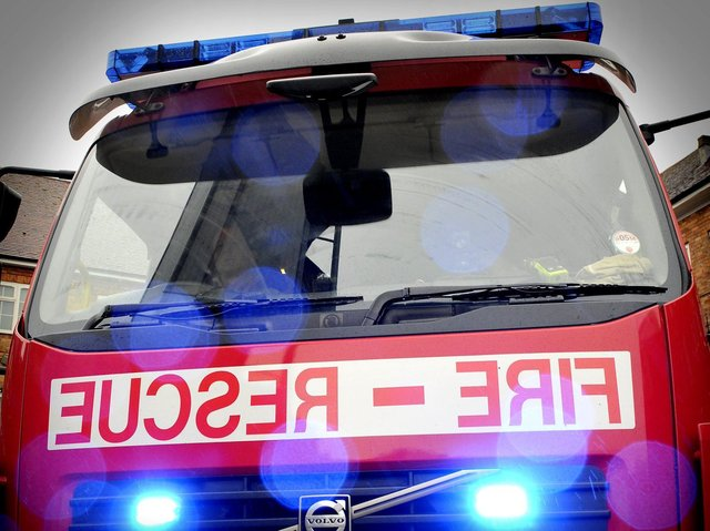 10 fire crews were called to the scene