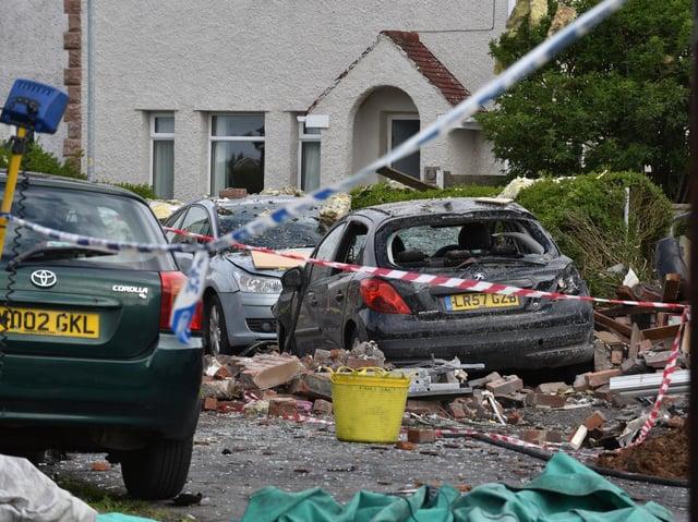 Blast site at Mallowdale Avenue. Heysham. Photo: David Hurst