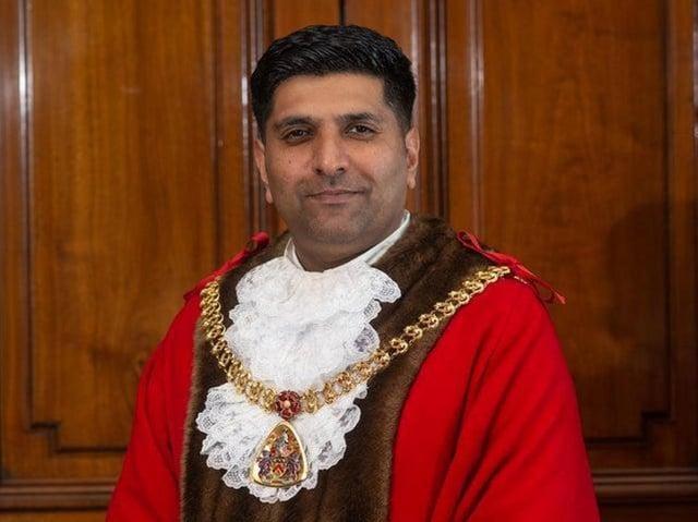 Lord Khan of Burnley in his Burnley Mayoral regalia