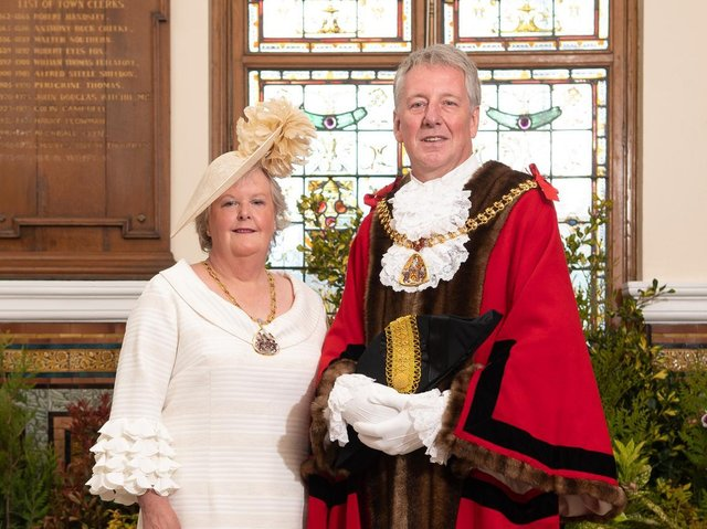 Mayor of Burnley, Coun. Mark Townsend, and his Mayoress Mrs Kerry Townsend