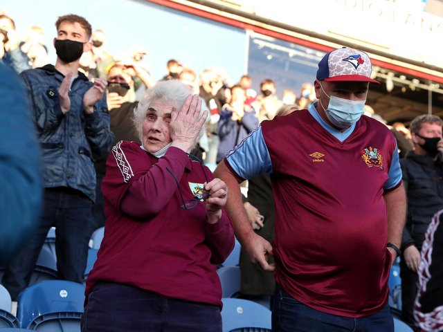 Emotional Burnley fans back in their 'happy place'
