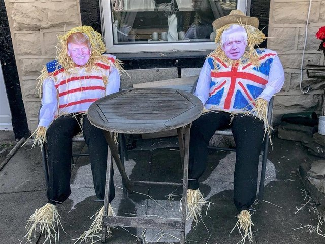 Boris Johnson and Donald Trump scarecrows were the stars of the show at last year's Rosegrove scarecrow festival