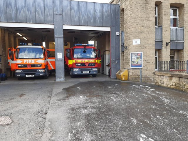 Colne firefighters attended a flat blaze in Barnoldswick yesterday