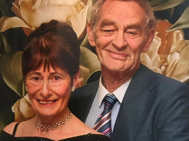 The late Gladys Sutcliffe who taught generations of local dancers pictured with her husband, Garth