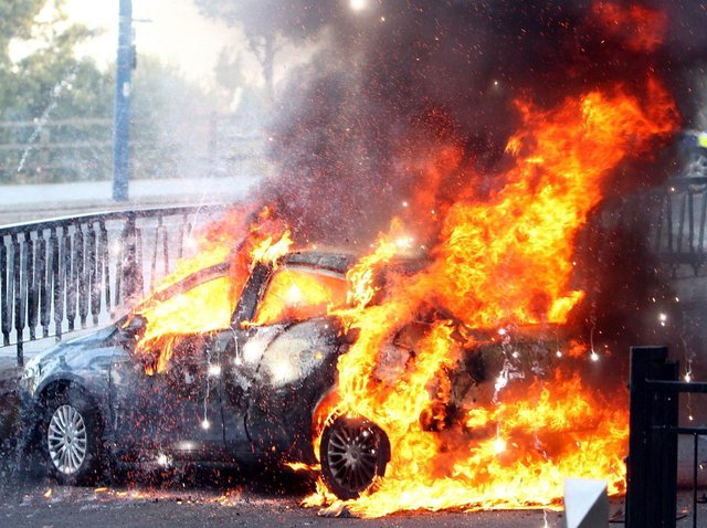 Hundreds of vehicles torched in Lancashire