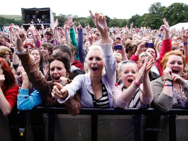 The UK's biggest pop acts drew massive crowds to Towneley Park