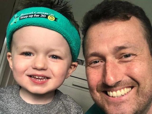 Mark with his son Joshua