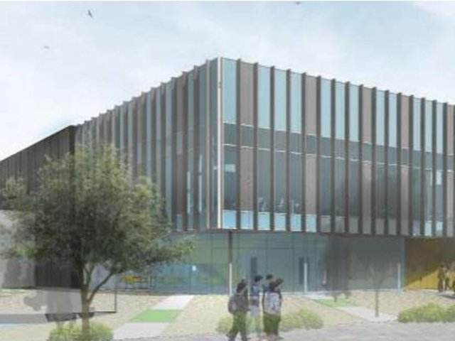 Artist's impression of how Burnley College's 'North Campus'  industry hub  will look
