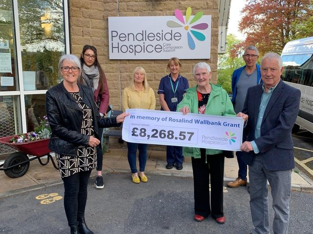 Cheque presentation in memory of Roz Wallbank
