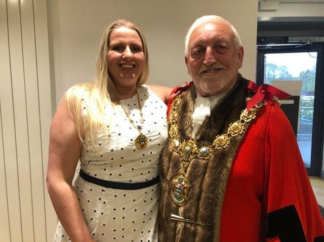 The new Mayor and Mayoress of Pendle, Coun. Neil Butterworth and Victoria Fletcher