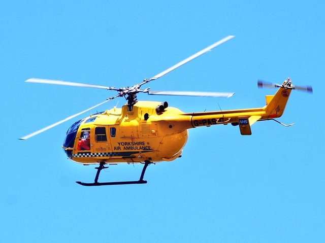 The air ambulance was deployed