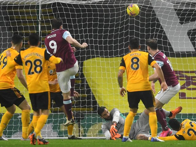Chris Wood on target against Wolves in December