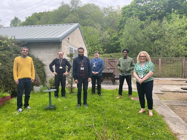 Burnley's DWP team (from left to right) Shyamal Ray, Andy Gibbons, Ashraf Footlat, Nicholas Peat, Moustapha Omar and Helen Warren.