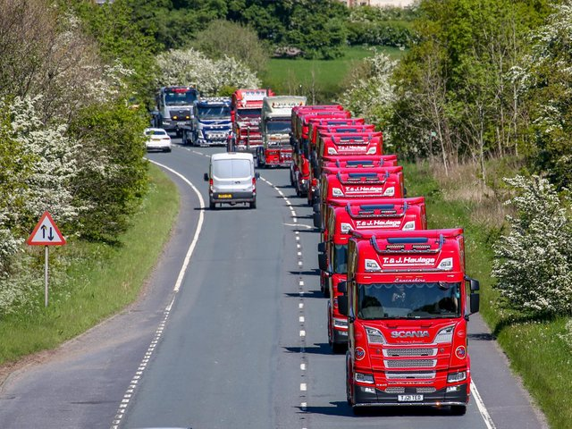 Charity truck run in memory of Joe Robinson. Picture by David Johnston