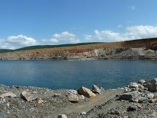 The disused quarry near Colne Golf Club. Photo credit: Colne and West Craven Police