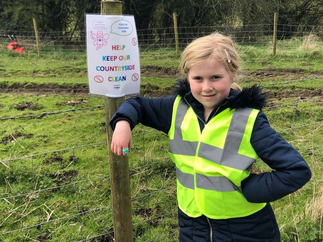 Keeping Clitheroe clean and tidy - Gracie-Rae Spedding