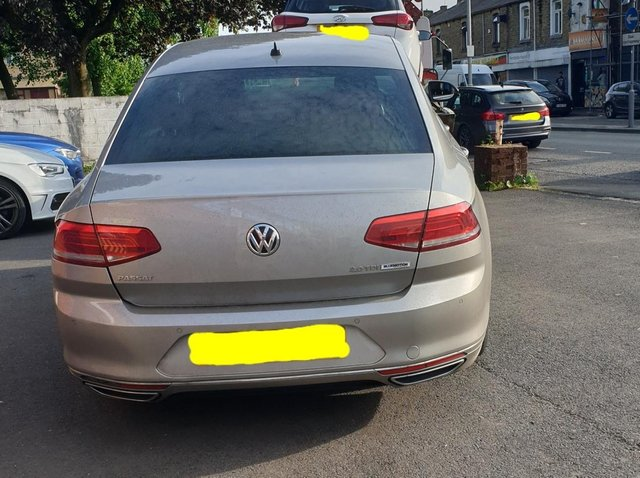 The vehicle seized by police. Photo credit; Lancs Road Police