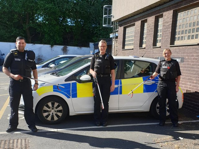 Police officers in Pendle are spearheading a community clean up today in Nelson
