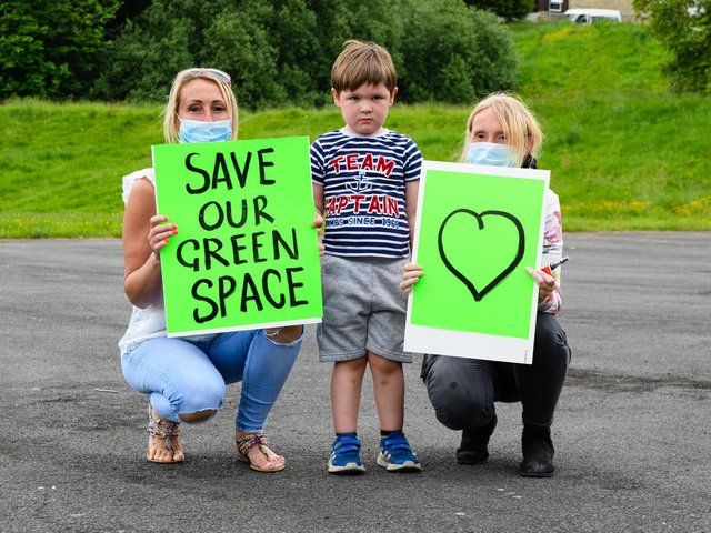 Residents are protesting against plans submitted by Burnley College to extend on a community recreation ground that has been in use for decades