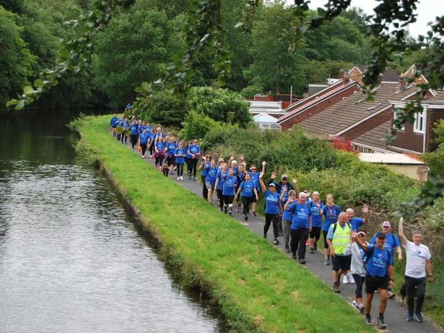 A previous fund-raising walk