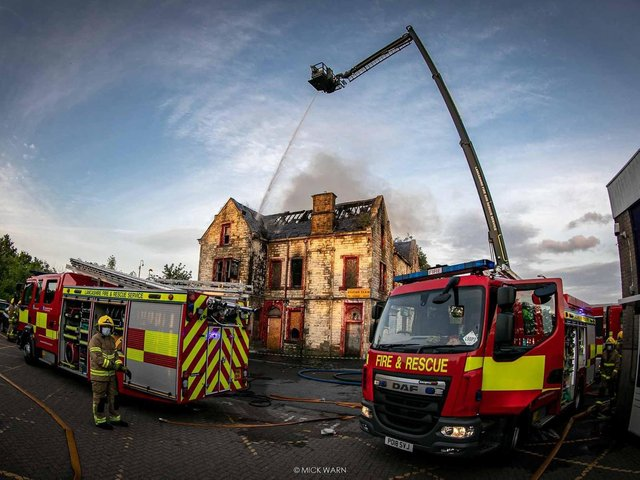 The disused Adelphi Pub badly damaged by last night's fire. Photo credit: Mike Warn