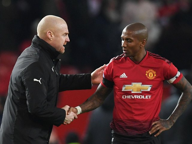 Sean Dyche and Ashley Young