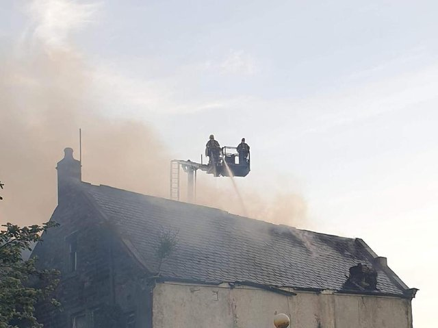 The scene of the blaze. Picture by Helen Robinson