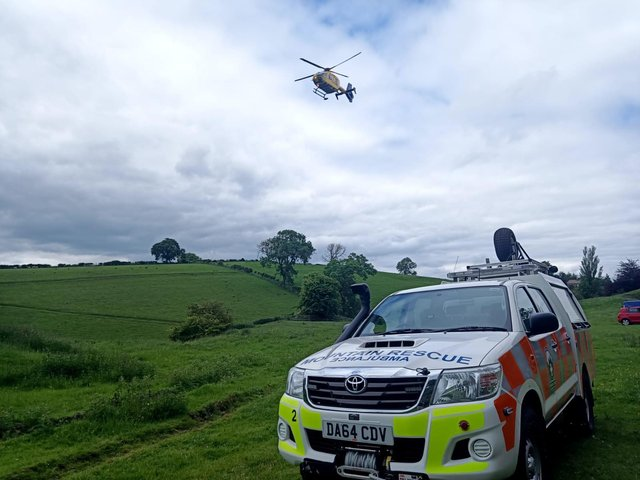 Emergency services including the air ambulance are called to the site. Photo credit: RPMR